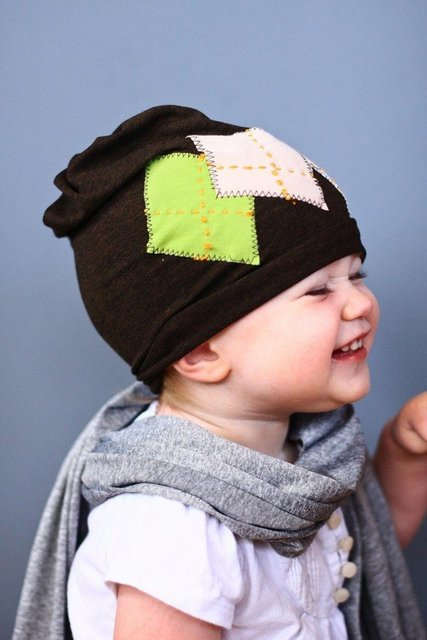 free shippig -40pcs/1lots Smart ARGYLE  Beanie infant toddler newborn cap Hat for boys