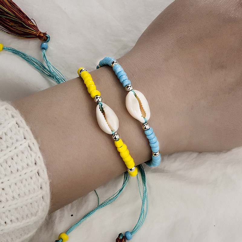 Ubuhle Bohemian Adjustable Bracelets Graceful Women Charm Jewelry Handmade Acrylic Beads Beautiful Shell Bracelet Summer Gifts