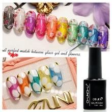 18Colors Nail Gel Translucent Candy Color Polish Varnish Lacquer 7ml Glass Art Tips Gemstone LED&UV