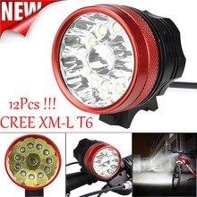 High quality Super 30000LM 12 x CREE XM-L T6 LED Bicycle Cycling Light Waterproof Lamp Dropshipping B35