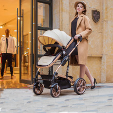 Baby stroller Portable folding baby carriage with high landscape baby carriage