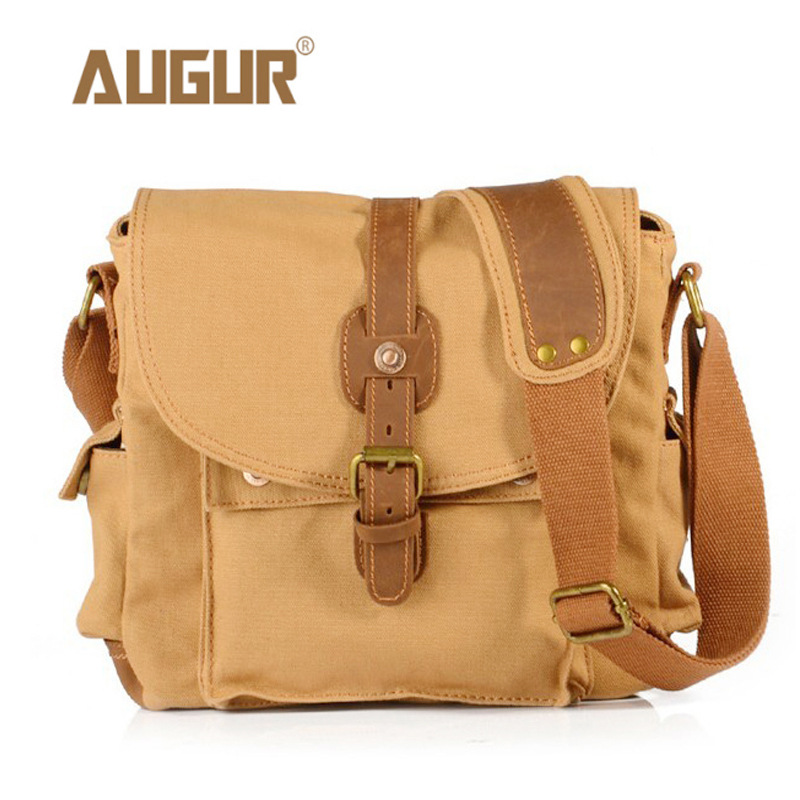 Image 3 - 2017 Canvas Leather Crossbody Bag Men Military Army Vintage Messenger Bags Large Shoulder Bag Casual Travel Bags-in Crossbody Bags from Luggage & Bags