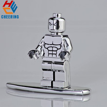 цены Single Sale Super Heroes Model Chromed Silver Surfer Chromed Silver Series Figures Building Blocks For Children Toys Gift KF2055