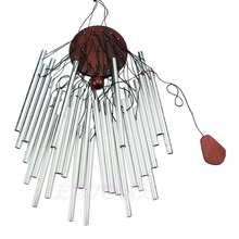 27 Tubes Silver Church Wind Chimes Outdoor Bells Garden Hanging Decorations New