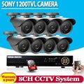 Hd 1200tvl 8ch ahd completo 960 h sistema de seguridad cctv 3g wifi Sistema de video vigilancia DVR KIT 8 * cámara de la bala al aire libre con 1 TB HDD