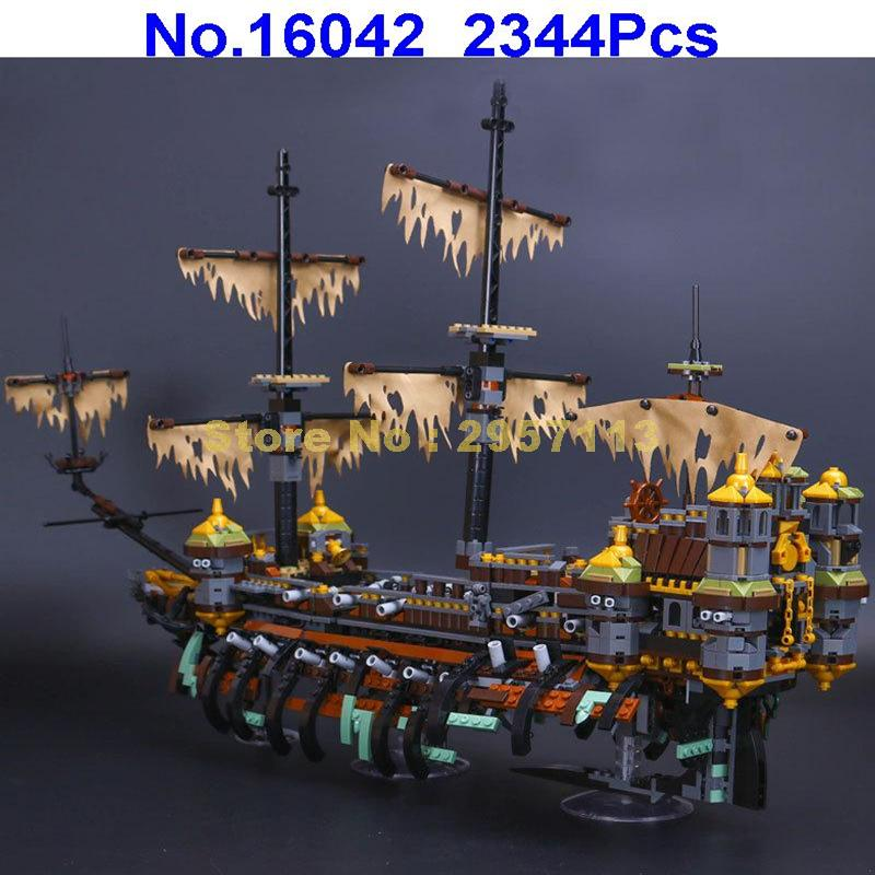 Lepin 16042 2344Pcs Pirate Ship Series The Silent Mary Building Blocks Compatible 71042 Brick Toy lepin 22001 pirate ship imperial warships model building block briks toys gift 1717pcs compatible legoed 10210