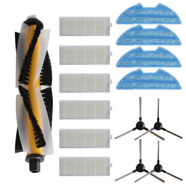 Roller Brush Side Brushes +Rags+ Filters For Proscenic VSLAM-811GB VSLAM-911SESweeper Accessories Set