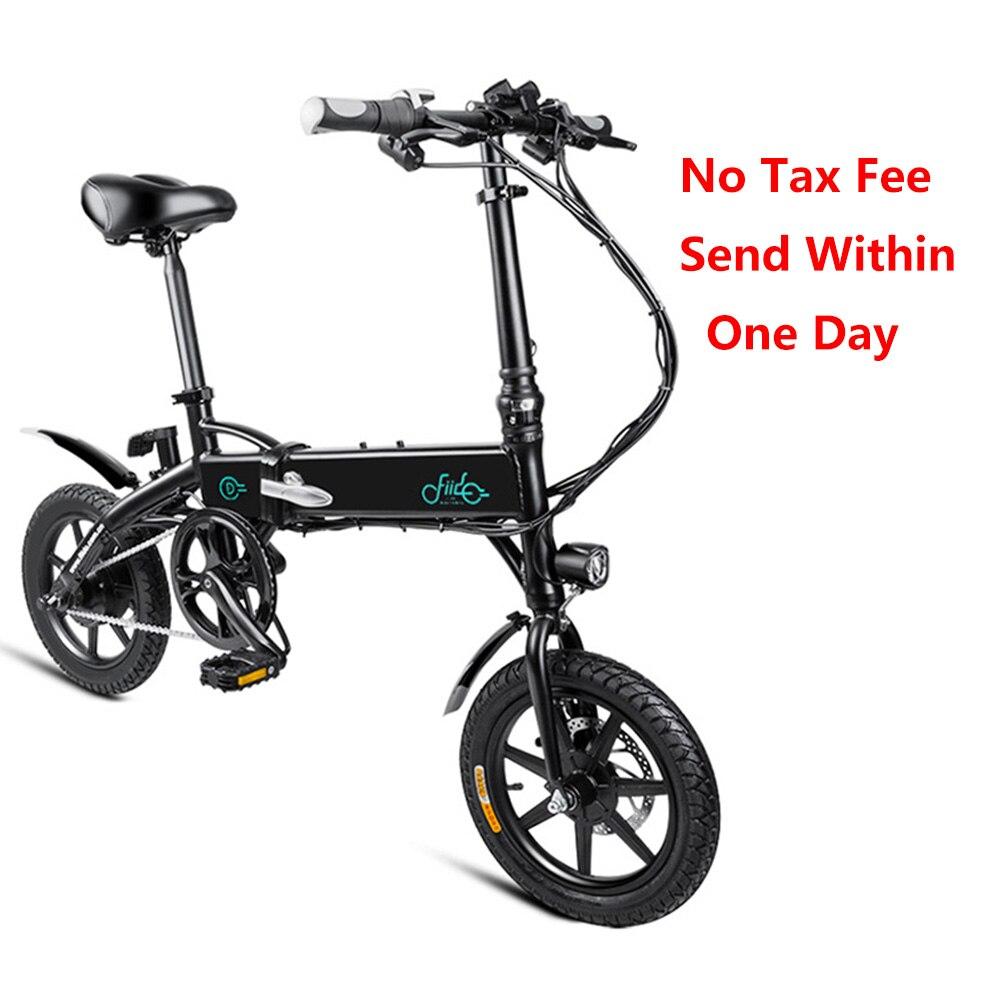 FIIDO D1 bicicleta plegable eléctrica 7.8AH/10.4AH batería Mini aleación de aluminio plegable bicicleta eléctrica ciclomotor bicicleta UE enchufe