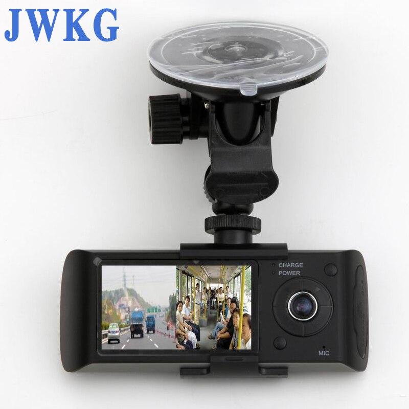JWKG Caché Double Lentille Caméras En Voiture Dash Cam enregistrement vidéo Synchronisé Avec GPS Tracker et G-Capteur
