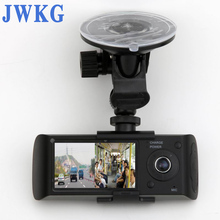 JWKG Hidden Dual Lens Cameras In Car Dash Cam Synchronized video recording With GPS Tracker and G-Sensor