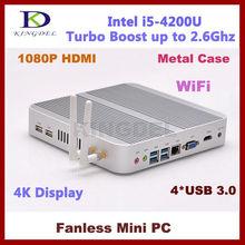 4 ГБ Оперативная память, 128 ГБ SATA3 SSD Intel i5-4200U Dual Core 1.6 ГГц Turbo Boost 2.6 ГГц, 3 м Кэш 3280*2000 Wi-Fi, HDMI, 4 К мини-компьютер