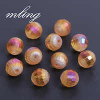 10mm 96 Faceted Gradienten Kristall Perlen für Schmuck Machen DIY Armband Perles Lose Runde Milchglas Perlen