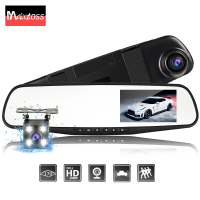 Dual Lens Car Camera Auto DVR Rearview Mirror Dash Cam Cars DVRs Recorder Video Registrator FHD 1080P Night Vision Camcorder