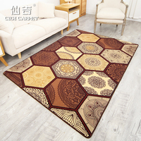 CIGI Modern Carpet Creative Geometric Folk Style Home Carpet Bedroom Living Room Blanket Mat Anti Skid