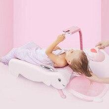 Детское кресло для шампуня вибрирующее то же самое кресло для мытья головы складной очень большой ребенок с кронштейном для мобильного телефона
