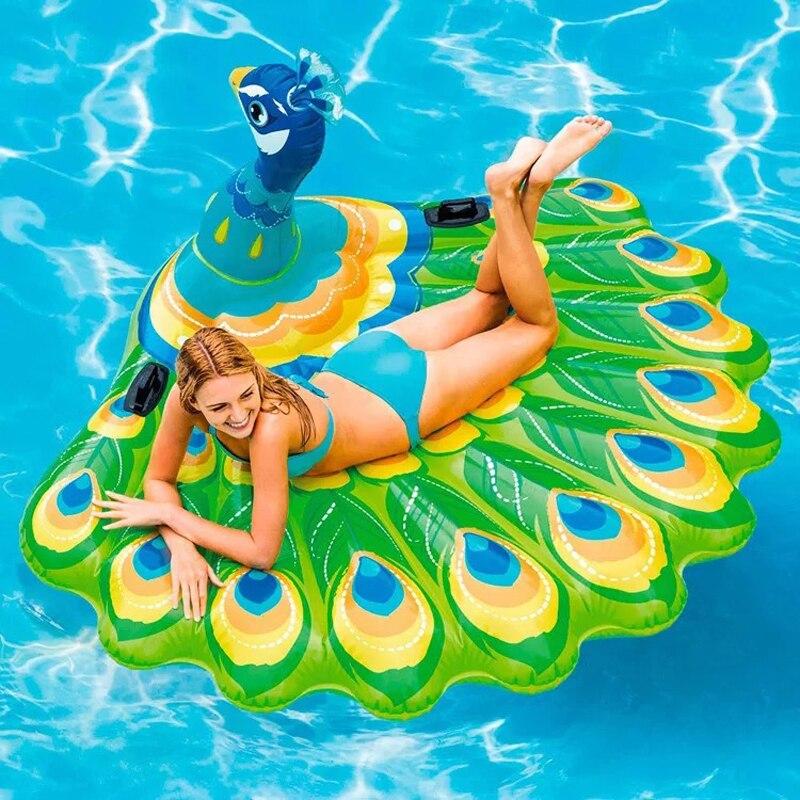 Piscine gonflable bateau flottant adulte natation flottante rangée été repos eau jouets et pompes à eau