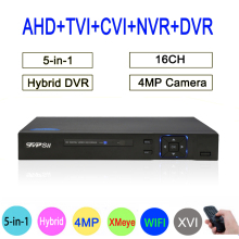 HI3531A Xmeye 16CH 4MP Surveillance Video Recorder 5 in 1 WIFI Hybrid Coaxial ONVIF TVi CVI IP NVR AHD CCTV DVR FreeShipping