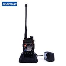 Nueva baofeng uv-5rb walkie talkies escáner de radio de doble banda cb jamón transceptor de radio uhf 400-470 mhz y vhf 136-174 mhz