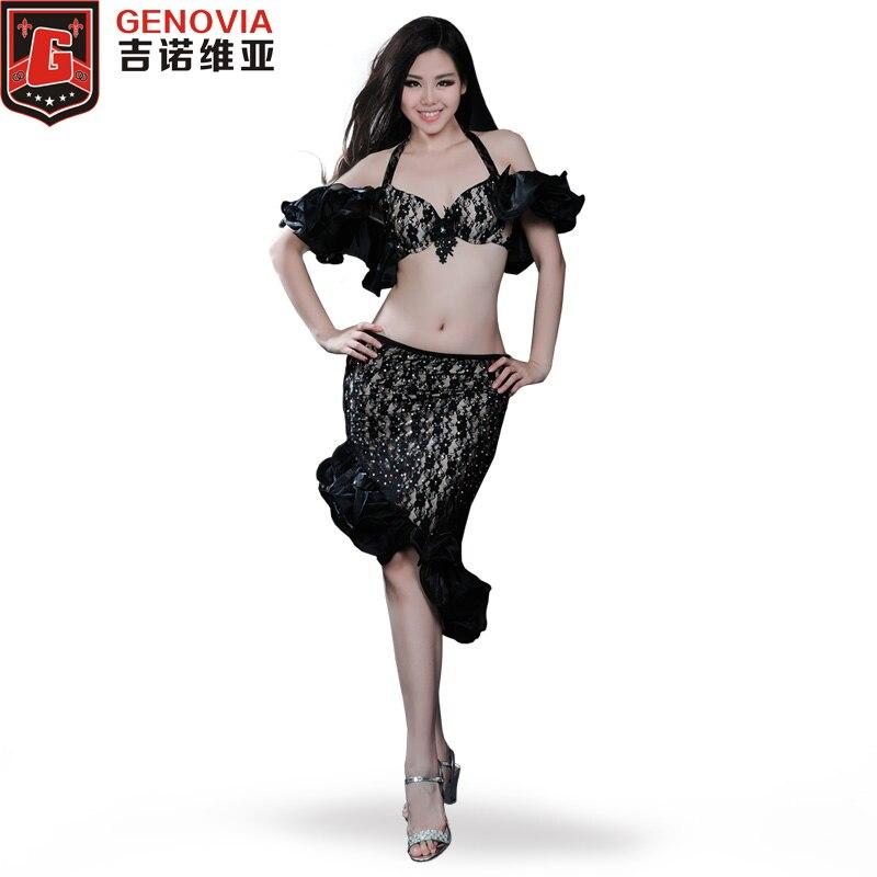 Danse orientale danse du ventre Costume Costumes Club stade 3 pièces soutien-gorge & jupe & sécurité pantalon encouragé Performance Costumes ensemble couleur 4