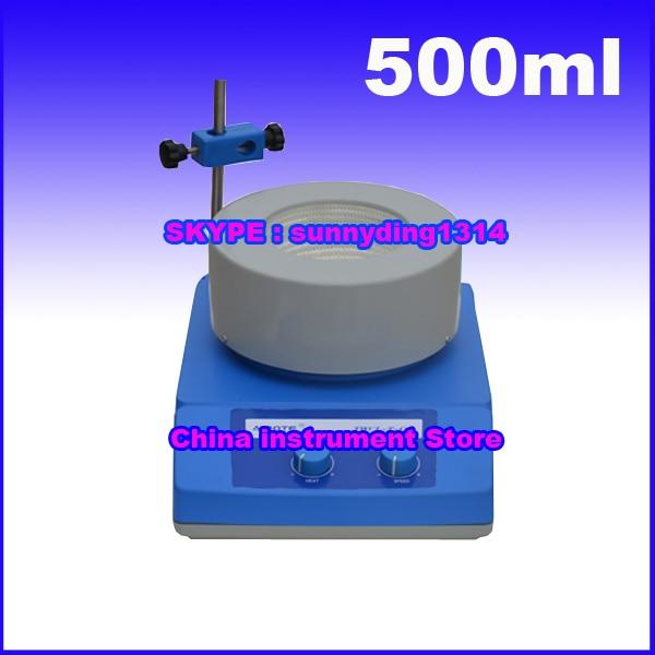 Free shipping, 500ml stainless steel Shell Digital Display stirring heating mantle ysdx 398 fashion stainless steel self stirring mug black silver 2 x aaa