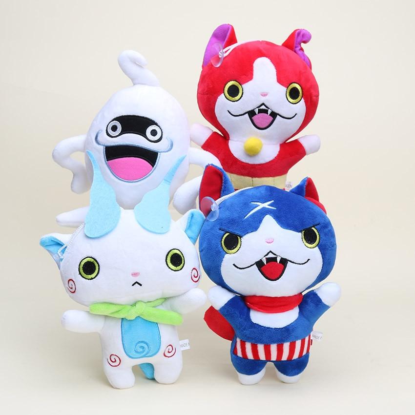 20 cm Izle Jibanyan Komasan Fısıltı Kawaii Youkai peluş oyuncaklar yo-kai Yokai Izle Yumuşak Doldurulmuş Hayvanlar Bebek juguetes de peluche