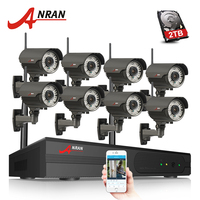 ANRAN P2P 8CH 1080P HDMI WIFI NVR 3TB HDD 2 8 12MM 78 IR Outdoor 2MP