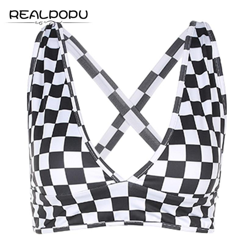 Realpopu 2017 Backless Cross Bandage Sexy Deep V Neck Crop Tops Tight Sleeveless Bras Tank Top Fitness Feminino Academia Women