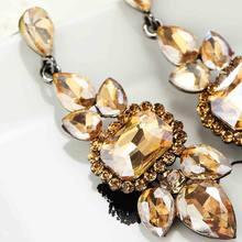 Boucles d'oreilles longues en cristal pour femmes et filles, bijoux de Style, fait à la main, Champagne, verre, strass, clou doux