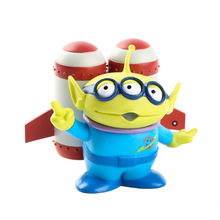 цена на Toy Story 4 cute Buzz Woody Alien PVC Beach Aircraft Anime Action Figure Burger doll Toy Kids gift with box