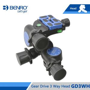 Image 5 - Benro GD3WH Head Gear Drive 3 Way Head Three Dimensional Heads For Camera Tripod Max Loading 6kg Free Shipping
