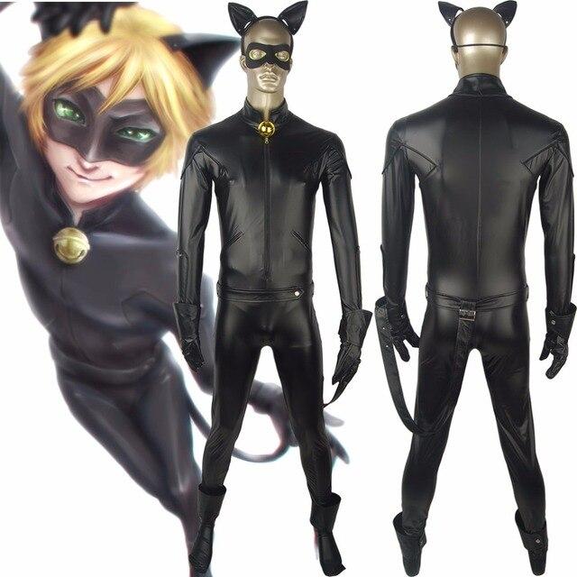 Miraculous: Tales of Ladybug & Cat Noir Adrien Agreste Cat Noir Jumpsuit  Catsuit Outfit Full
