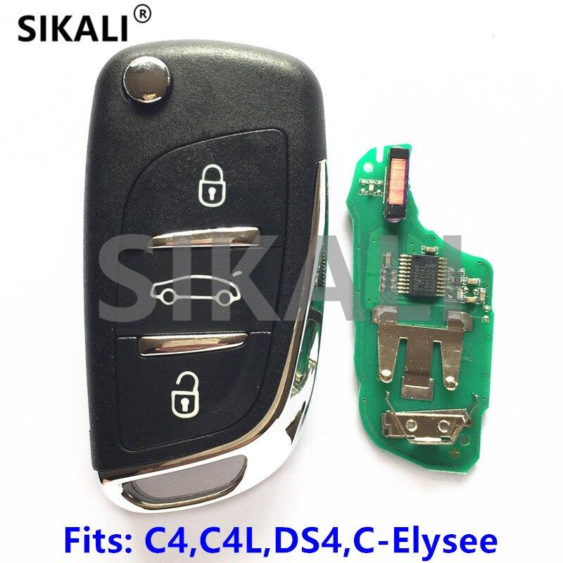 Sikali автомобиля удаленный ключевой костюм для Citroen C4 C4L C-Elysee для DS 4 DS4 434 мГц с ID46 (7941) чип