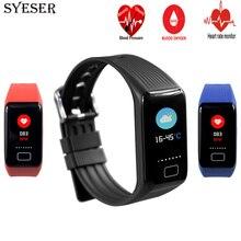 SYESER X1 Tela Colorida Pulseira Inteligente pressão arterial de oxigênio banda Monitor De Freqüência Cardíaca Pulseira sport watch pk xiomi mi banda 2