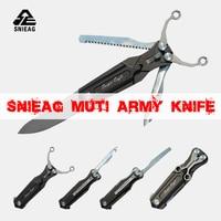 Новый армейский нож SNIEAG muti function Открытый походный складной нож с рогаткой ножовка и рыболовный нож хороший открытый помощник
