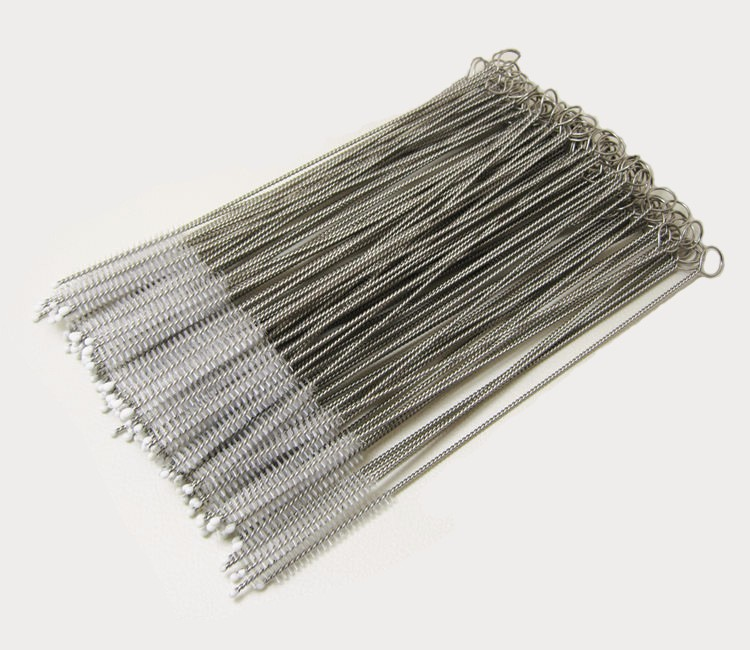5000 pcs New Arrive Stainless steel wire cleaning brush straws cleaning brush bottles brush