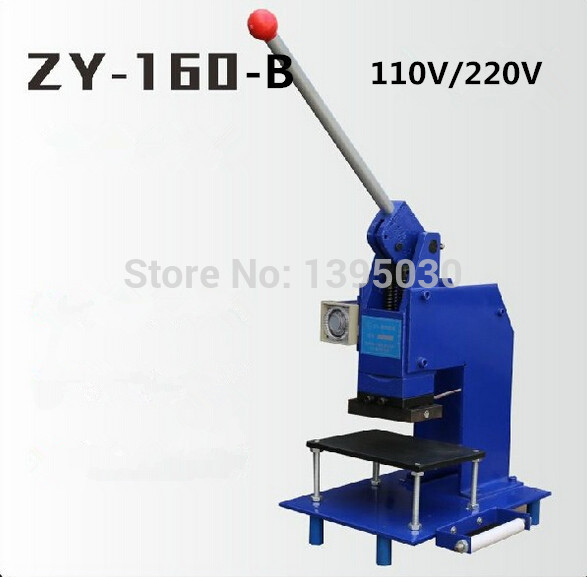 1pc Manual Hot Foil Stamping Machine Manual Stamper Leather Embossing Machine Printing Area 100*150MM ZY 160 B