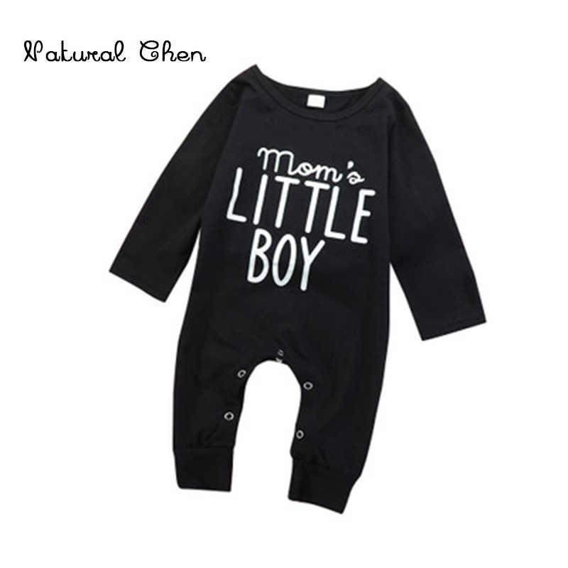 Осень 2018, Новый Модный комбинезон для маленьких мальчиков, комбинезон с длинными рукавами, одежда для маленьких мальчиков, черная одежда