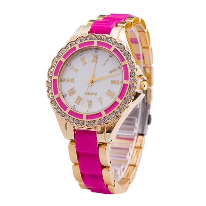 Clock Watch Women Stainless Steel Crystal Dial Band Analog Quartz Wrist Watch Comfortable Famous Temperament Hot Selling Gift M5 smileomg hot sale fashion women crystal stainless steel analog quartz wrist watch bracelet free shipping christmas gift sep 5