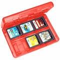 Nueva 28in1 Rojo GameCardCase Titular Caja Del Cartucho para Nintendo para 3DS LL DSL de Alta Calidad