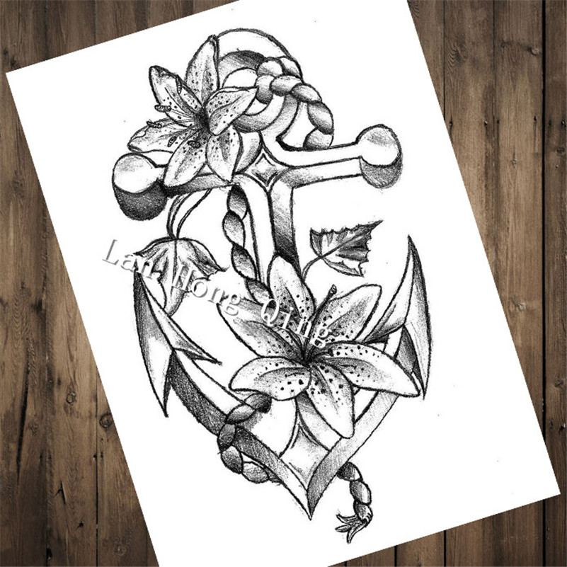 Top fashion tattoos patterned kraft paper poster about for Off the wall tattoo
