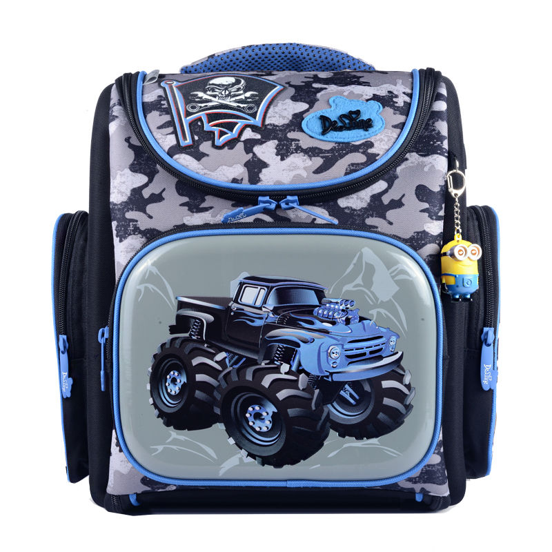 Hot Sale Brand Delune Kids School Bags Large Capacity Children Orthopedic Backpacks For Primary School Student Boys Schoolbag 2016 time limited sale school bags orthopedic backpack kids elementary schoolbag children ergonomic primary nylon boy backpacks