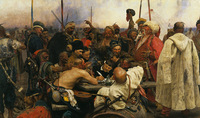 Repin Cossacks Famous Prints On Canvas Picture Painting On The Living Room Wall High Quality Gift
