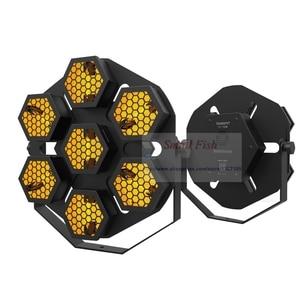 Image 2 - Led ランプ 7X100W レトロフラッシュ光輸送ライトディスコパーティープロの舞台効果光 dj 機器