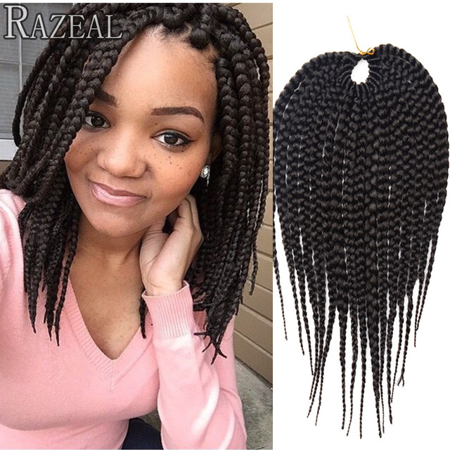 Zazeal Short Box Braids Hair 14 Freetress Cubic Crochet Extension Senegalese