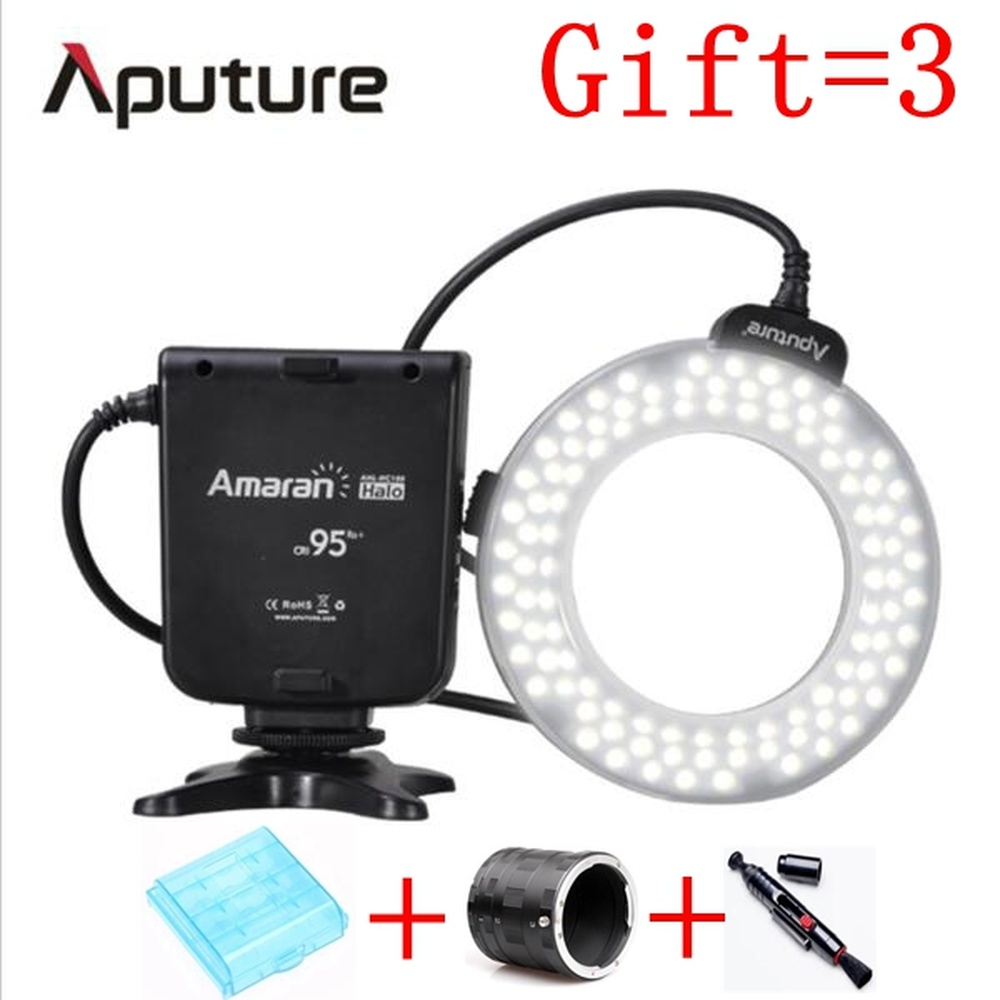 Aputure HC100 HN100 CRI 95+ Amaran Halo LED Macro Ring Flash light For Canon EOS 7D 6D 50D 5D Mark III 5D Mark II 700D D7200D800