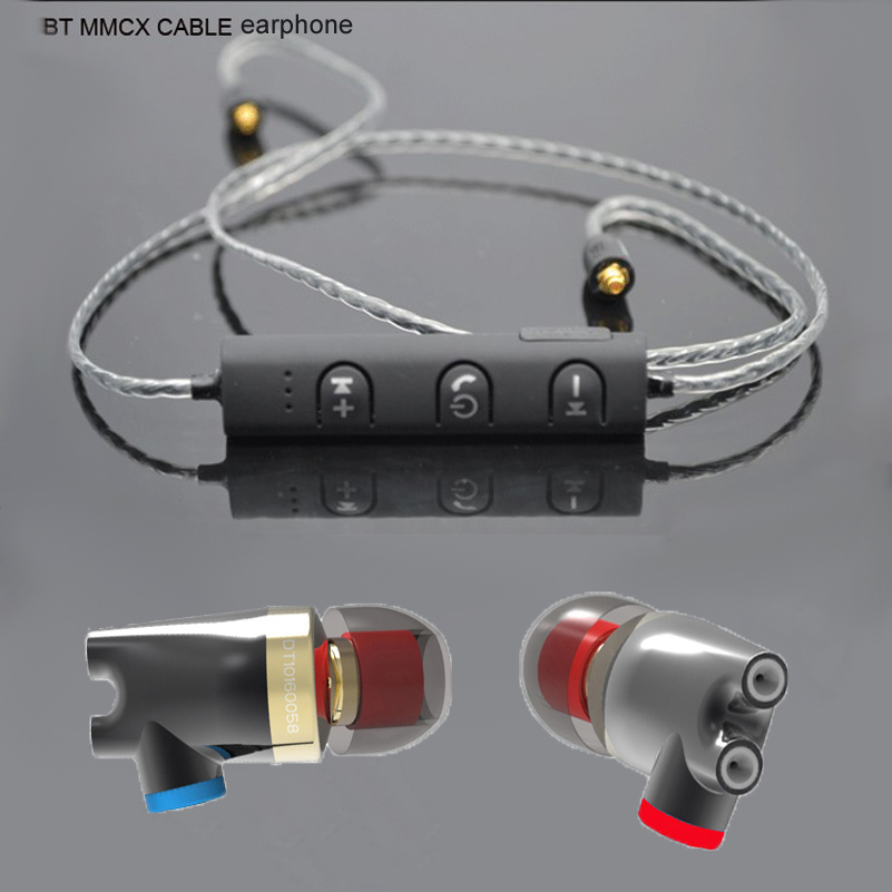 Bluetooth SENFER DT2 PLUS Dynamic 2BA Hybrid HIFI In Ear Earphone ie800 earphone ie80 ie8 style for shure se215 se535 MMCX cable 2016 senfer 4in1 ba with dd in ear earphone mmcx headset with upgrade cable silver cable hifi earbuds