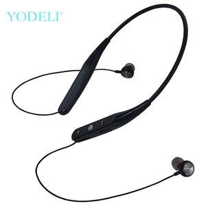 Image 1 - YODELI 733 Bluetooth słuchawki bezprzewodowe słuchawki sportowe wsparcie TF karty bezobsługowy zestaw słuchawkowy z mikrofonem do telefonu iPhone Xiaomi