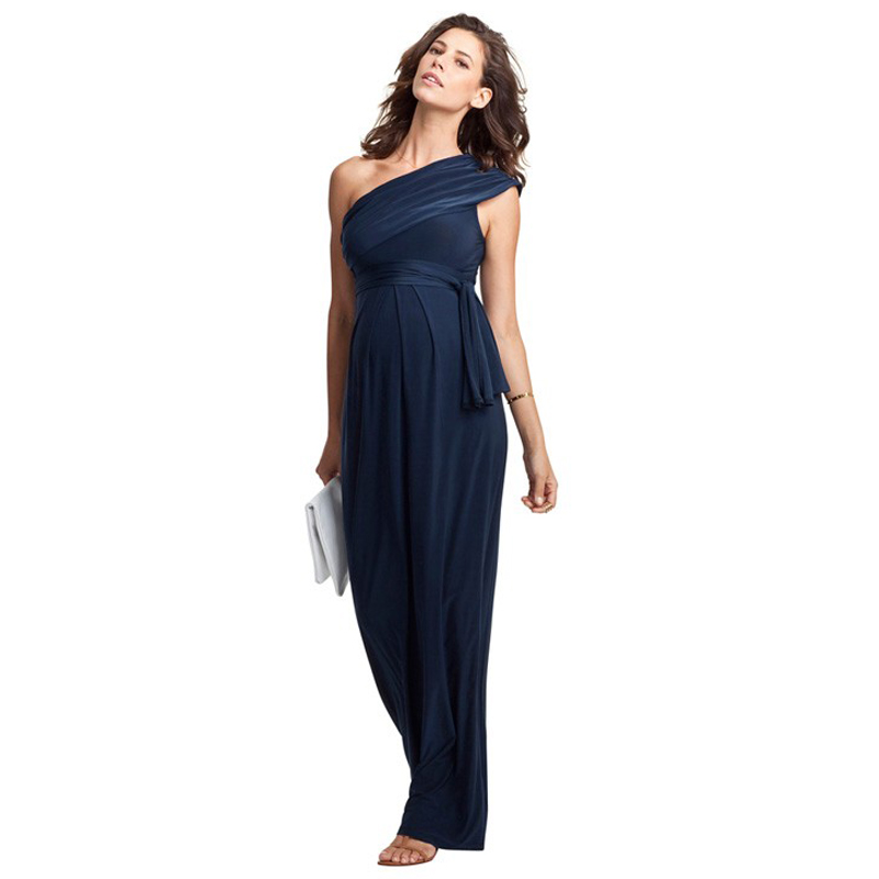 Shoulderless Maternity Dress Loose Elegant Evening Party Dress For Pregnant Women Long Ball Gowns Office Lady Business Vestidos exterm hc 5105
