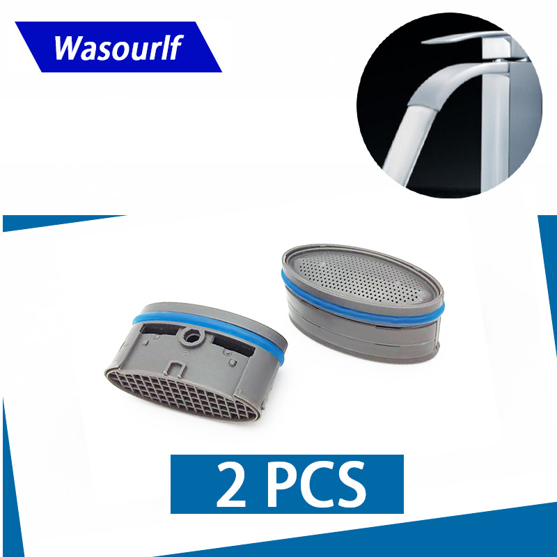 WASOURLF 2PCS Oval Aerator Bubbler Male Thread Water Saving For Faucet Tap Bathroom Kitchen