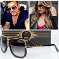 Clássico Da Moda mulheres Homens óculos de sol Quadrados Celebridade Marca designer UV400 Espelho Senhora Super star Óculos de Sol Feminino Masculino